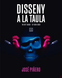 Cartel Disseny a la Taula, de José Piñero - IVAM CADA ALCOI