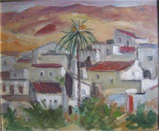 Francisco Alcaraz. 'La Herrería. Almería'. 1980. Óleo/lienzo, 38 x 46 cm