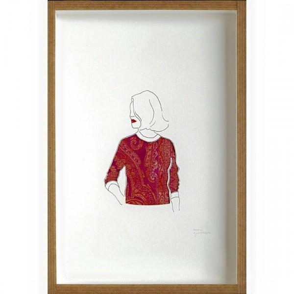 Obra de Mari Quiñonero presente en la exposición