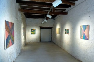 """Vista de la exposición """"Further Reaches"""" de Marta Marcé en Palmadotze"""