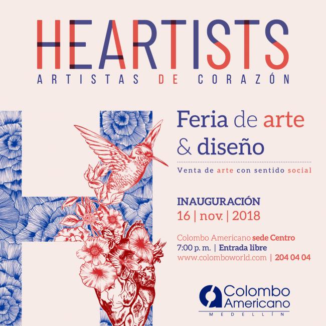Heartists. Imagen cortesía Galería Colombo Americano de Medellín