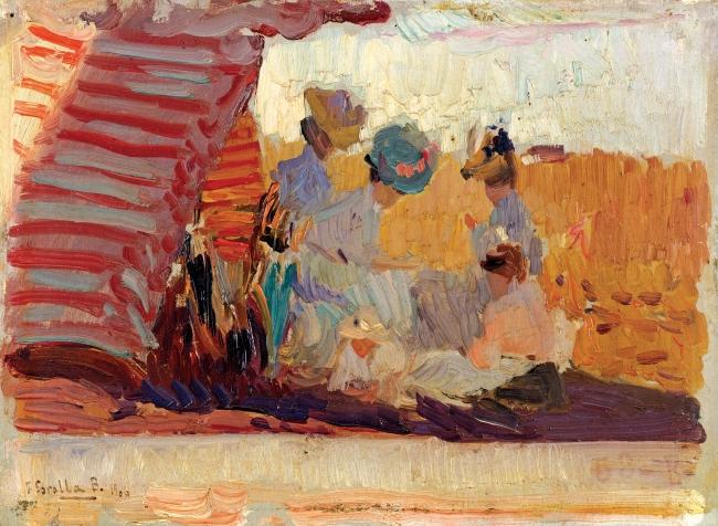 Joaquín Sorolla, Platja de Biarritz, 1906 — Cortesía del Espai Carmen Thyssen