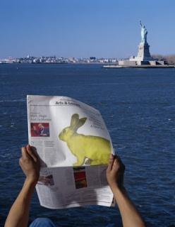 GFP Bunny. Imagen cortesía Galerie Charlot