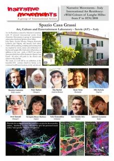 Cartel de presentación de los artistas participantes en la residencia artística
