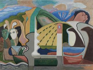 Ramón Zuriarrain, sin titulo, óleo sobre lienzo 97x130,5 cm. — Cortesía de Ekain Arte Lanak