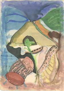Ramón Zuriarrain, sin título, acuarela sobre papel, 24,4 x 17,2 cm. — Cortesía de Ekain Arte Lanak