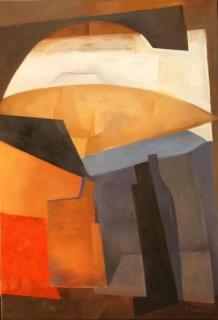 Carmen Pérez-Ramírez, Untuoso y largo, óleo sobre lienzo