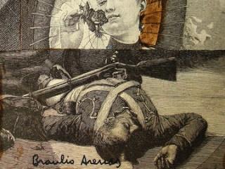 Detalle de collage de Braulio Arenas