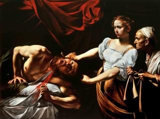 Judith Beheading Holofernes, Caravaggio (c. 1598-9) – Cortesía de la Fundación Montemadrid