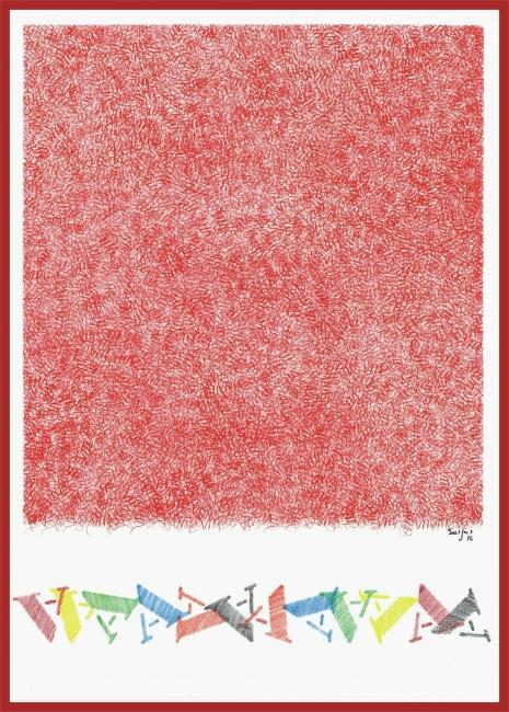 Serie tres cores - vermello