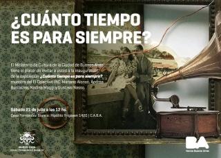 ¿Cuánto tiempo es para siempre?. Imagen cortesía Ministerio de Cultura de la Ciudad de Buenos Aires