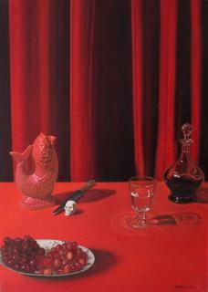 JUAN ANTONIO MAÑAS, Tosca I, Oli sobre paper, 42 × 29,7 cm. — Cortesía de la Sala Parés