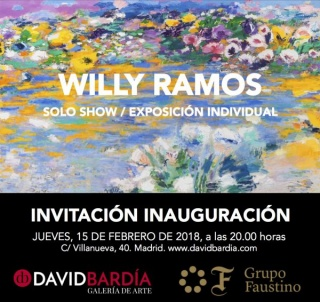 Invitación exposición individual Willy Ramos