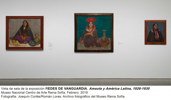"""Vista de sala de la exposición """"Redes de vanguardia: Amauta y América Latina, 1926-1930"""""""
