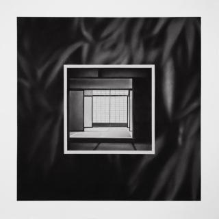 Irene González. Sin título, conté y grafito en polvo sobre papel, 70 x 70 cm,  2020 — Cortesía de la Galería Silvestre