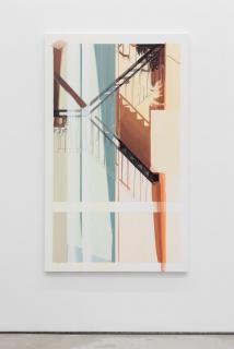ISABEL SIMÕES. Meteorologia 6. 2019. Acri?lico sobre tela. 166 x 100 cm. — Cortesía de la Galeria Bruno Múrias