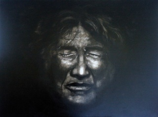The galerist. 97x130cm.Oleolienzo