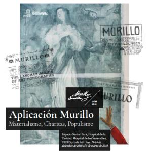 """Cartel de """"Aplicación Murillo. Materialismo, charitas y populismos"""""""