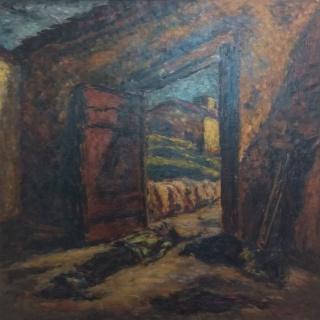 Arturo Souto. Fusilados. Óleo sobre lienzo – Cortesía de la Galería José Lorenzo