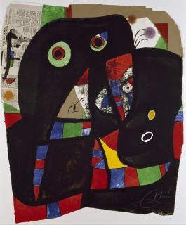 Joan Miró. Gaudí XX, 1979 — Cortesía de la Fundació Joan Miró