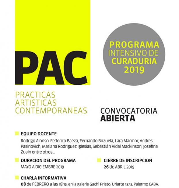 Proyecto PAC: Programa intensivo de curaduría. 8ta. edición | 2019