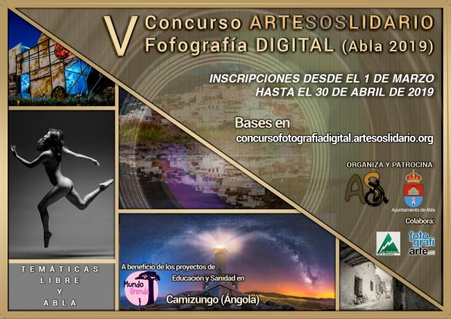 Cartel V Concurso ArteSOSlidario de Fotografía Digital (Abla 2019)