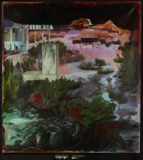 s/título, p.168, 2019. óleo s/ Lona de PVC, 230 cm x 210 cm