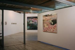 """Vista da exposição """"O Caminho da Sombra e o Buraco da Minhoca"""""""