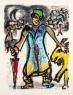 Marc Chagall / Poemas_ Grabado 18, 1968 / Xilografía y Collage / © VEGAP, A Coruña, 2020. - Chagall ® — Cortesía de la Fundación Barrié