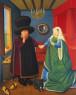 Fernando Botero, The Arnolfini según Van Eyck, 2006, óleo sobre lienzo — Cortesía de Arthemisia