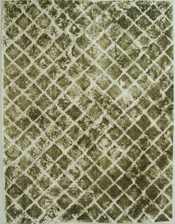 Ignacio Pérez-Jofre, Sen título 2, 2020, frotage terra sobre papel 200 x 150 cm. — Cortesía de la Fundación Laxeiro