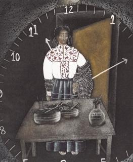 """Irma Guerrero (Oaxaca, 1956), """"Chenteña"""", 1988 Aguafuerte y aguatinta, Ed. 11/55 25 x30 57 cm. Colección Ralli — Cortesía del Museo Ralli Marbella"""