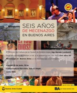 Presentación del libro `Seis años de Mecenazgo en Buenos Aires´