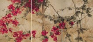 Buganvilla. Óleo sobre lienzo. 130 X 285 cm. 2015