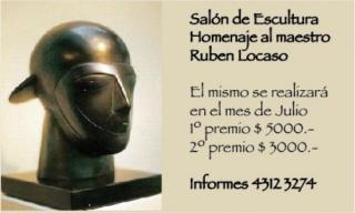 Salón de Escultura Asociación Estimulo de Bellas Artes. 140 Aniversario. Homenaje a Rubén Locaso