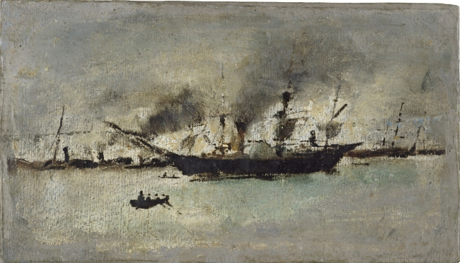 Ignacio Pinazo | Barco de vapor, s.f. – Cortesía del IVAM