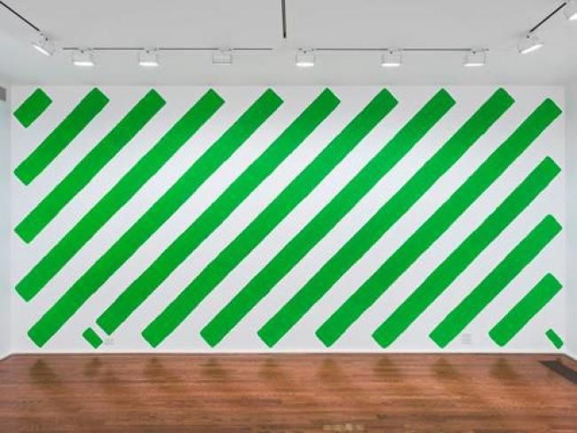 Obra No. 1781, 2013 Emulsión en pared. © Martín Creed. Todos los derechos reservados, DACS I VEGAP 2018. Foto: Genevieve Hudson — Cortesía del Centro Botín