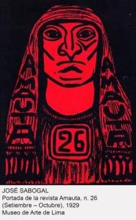 José Sabogal, Portada de la revista Amauta, n. 26 (Septiembre-Octubre), 1929. Museo de Arte de Lima — Cortesía del Museo Nacional Centro de Arte Reina Sofía