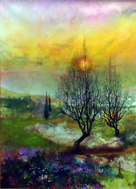 Juan Alcón, Sin título, óleo sobre tela, 100x73 cms.