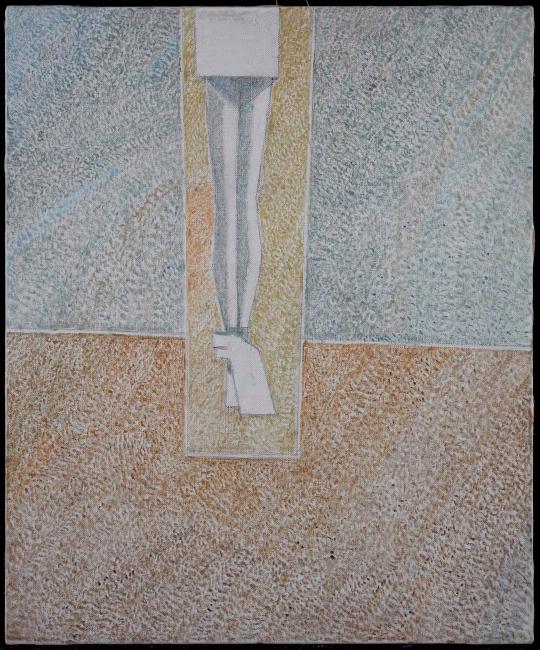Cristino de Vera, Cristo y dos paños blancos, 2012 — Cortesía de Fernández-Braso galería de arte