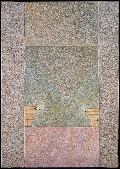Cristino de Vera, Dos cestas con florecillas, 1998 — Cortesía de Fernández-Braso galería de arte