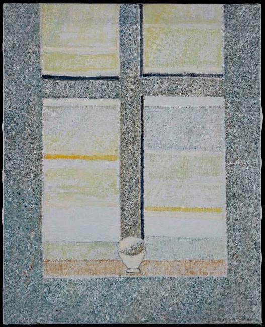 Cristino de Vera, Espacios espirituales con mesa y taza, 2007 — Cortesía de Fernández-Braso galería de arte