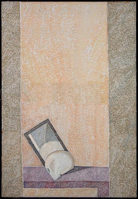 Cristino de Vera, Cráneo y espejo, 1998 — Cortesía de Fernández-Braso galería de arte
