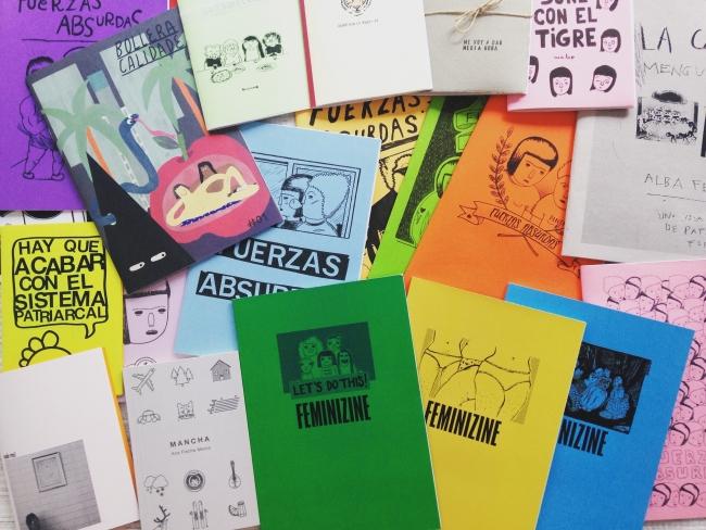 Andrea Galaxina. Fanzines varios de Bombas para Desayunar — Cortesía de Arts Libris
