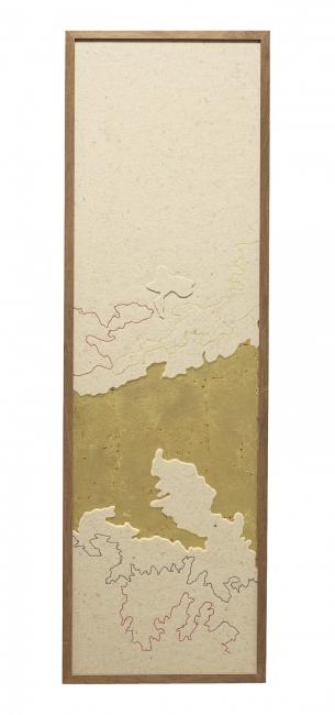 Mercedes Lara, detalle de la obra Golfo Pérsico. Cortesía galería Lucía Mendoza