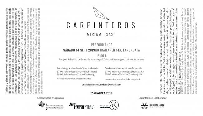 Carpinteros de Miriam Isasi