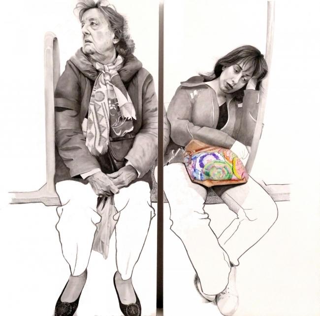 Obra ganadora LXXVII Premi Centelles: Tangentes, de la pintora Inés de Haro