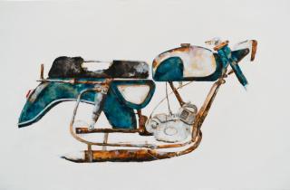 Edu Albo, Beingo 2018, acrílico sobre tela, 175x115 cm. 2020  — Cortesía de la Galería Luisa Pita