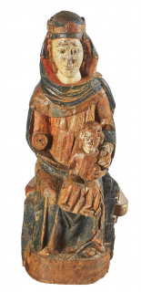 ESCUELA CATALANA, s.XIII-XIV. VIRGEN CON NIÑO