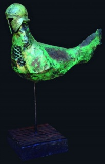 Lorenzo Saval, Dron Antiguo, técnica mixta (24 x 28 cm)